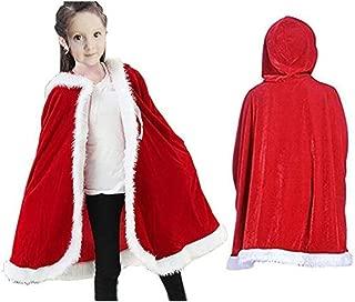 Costume da Babbo Natale con Cappuccio scialle in velluto con Cappuccio di Babbo Natale