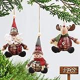 MMTX Adornos navideños Decoraciones, Navidad Decoración Colgante Papá Noel Muñeco de Nieve Reno Muñeco para árbol de Navidad Colgante Mesa Chimenea Decoración para Fiestas navideñas Regalos