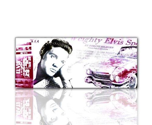 ELVIS Wandbild IKONEN (Elvis_Presley_bordeaux-120x50cm) The King Bild xxl günstig & modern Bild auf Leinwand und Keilrahmen, der aktuelle Deko Trend 2011! Modern Art Pics in...