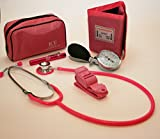 ICE Medical Ensemble tensiomètre, stéthoscope, lampe stylo et garrot Rose