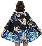 DOVWOER - Kimono con maniche a 3/4, casual, leggero Style-21 Taglia unica