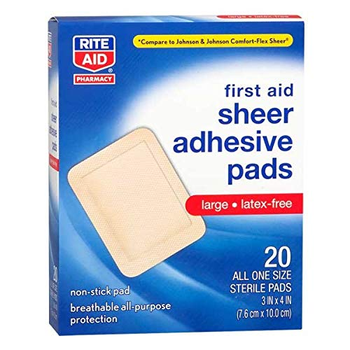 Rite Aid Sheer Adhesive Bandages with Non Stick Pad, 3