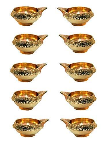 SataanReaper Presents Set Of 8 Handmade Brass Diya Oil Kuber Deepak Jyot Dia Lamp Festival Gifts Diya Decoration #SR-646