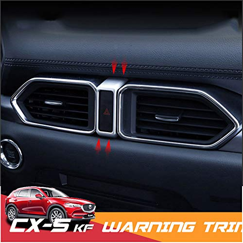 QQKLP En Forma para Mazda CX5 CX5 2017 2018 2019 Tablero de Instrumentos del Coche de la rociada Alerta de Advertencia de luz Push Button Anillo de la moldura de la Cubierta Accesorios