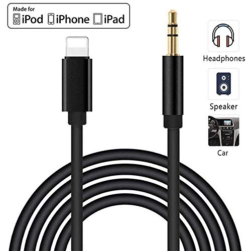 [Apple MFi Certified] iPhone Aux Cord for Car, Lightning to 3.5mm Audio Stereo Cable Compatible for iPhone 11/11 Pro/XS/XR/X 8 7 Adapter Cable to Car Stereo/Home/Headphone/Speaker Support All iOS