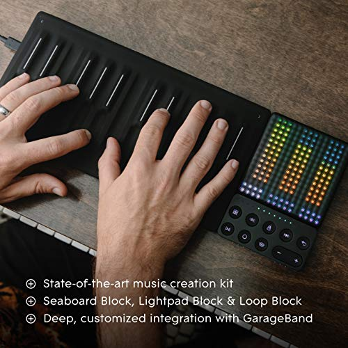 ROLI | Songmaker Kit - GarageBand Edition | Seamless Campanion to GarageBand and Logic Pro X | Create Melodies on Seaboard Block and Beats and Effects With Lightpad Block | Case & Software Included