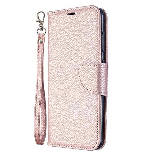 Hülle für Nokia 7.2 / Nokia 6.2 Lederhülle Flip Tasche Klappbar Handyhülle mit [Kartenfächer] [Ständer Funktion], Cover Schutzhülle für Nokia7.2 / Nokia6.2 - JEBF100993 Rosa Gold