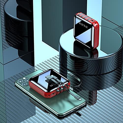 XIECUI Banco de energíaPower Bank 30000mah Cargador portátil Dual USB Type C Powerbank Batería ExternaNegro