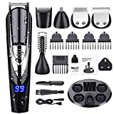 Beard Trimmer Kit for Men, ADOKEY 10 in 1 Waterproof Hair Clippers Beard
