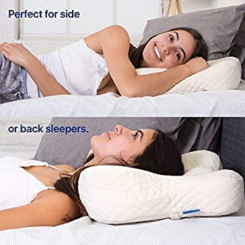 Cradle Me Cervical Pillow - Orthopedic Contour Memory Foam Pillow for Back and Side Sleepers with Neck and Spine Supp...