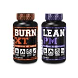 Burn XT Thermogenic Fat Burner & Lean PM Nighttime Weight Loss Supplement for Men & Women 60 Veggie Diet Pills