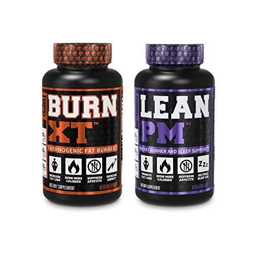 Burn XT Thermogenic Fat Burner & Lean PM Nighttime Weight Loss Supplement 60Ct Diet Pills