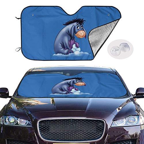 JKKSA Parasol Protector Solar para la Parabrisa Delantera del Coche Acmiran Eeyore Auto Shield Cover Sun Shade for Windshield UV Sun and Heat Reflector