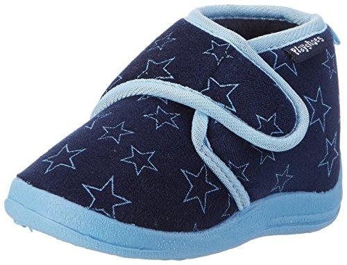Playshoes Chaussons Pastel, Pantoufles Garçon Unisex Kinder, Bleu (Marine 11), 24/25 EU