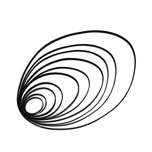 Aibecy GT2 spanbanden voor gesloten riemen W = 6 mm L = 110/112/158/200/280/400/610/852 / 1220 mm Kit voor 3D-printer (2 stuks)