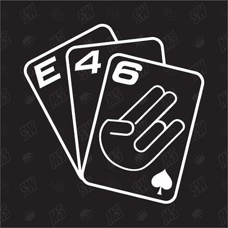 Speedwerk Motorwear Spielkarten E46 Sticker Kompatibel Mit Bmw Auto