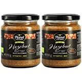 Planet Plant-Based Mantequilla de avellanas, 2 frascos (2x250g) - orgánica, vegana, sin gluten. 2...