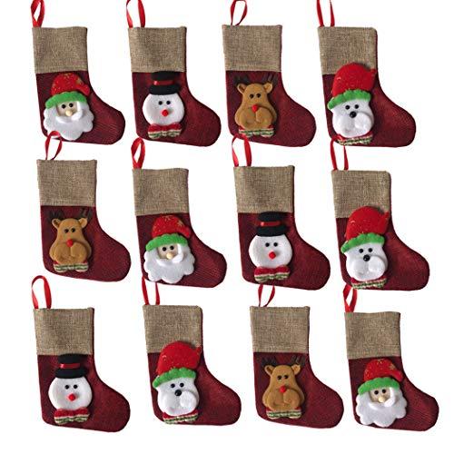 JUSTDOLIFE 12 STKS kerst decoratie voor open haard Kerstmis Stocking kleine pop Ornament