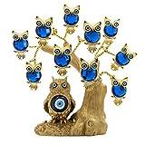 YU Feng Estatua Grande del árbol de Lucky Money y Evil Eye con Grandes Ojos Azules turcos y estatuil...
