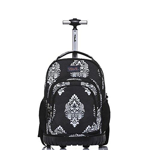 Tilami Rolling Backpack 18 inch Boys and Girls Laptop Backpack, Totem