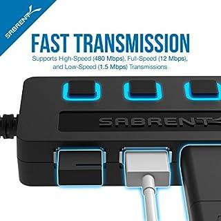 Sabrent 4-Port USB 2.0 Hub مع مفاتيح للبيع