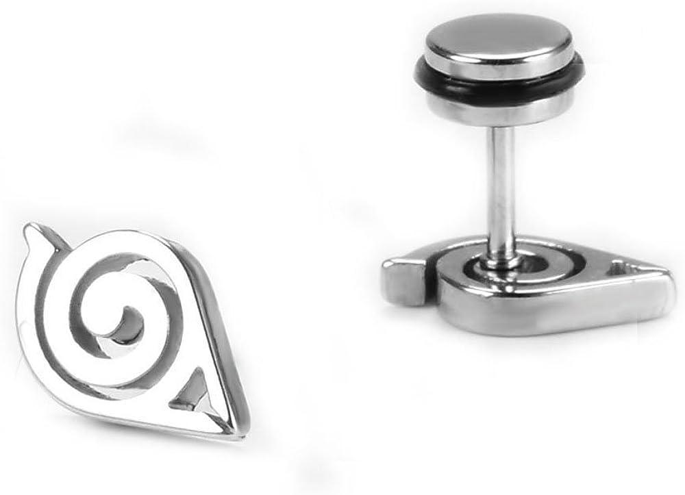 trust PEARL Animation Naruto Gaara Logo Allergy Stud Medical Ear High material Titan