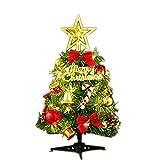 AcseGery - Albero di Natale artificiale con illuminazione LED multicolore e decorazioni natalizie, 30 cm (LIC Hter)