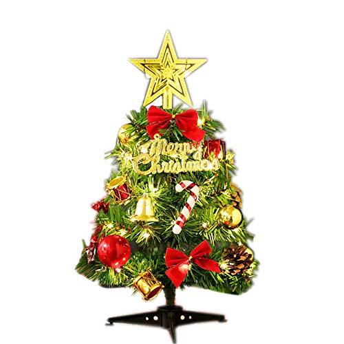 AcseGery Geschmückter künstlich Weihnachtsbaum Tannenbaum Weihnachtsbaum klein mit Beleuchtung Multicolor LED und Weihnachtsschmuck 30cm (Farbige LIC hter)
