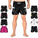 Elite Sports Muay Thai, MMA, Kickboxing Shorts, Kickboxing Muay Thai Training Shorts for Men and Women White
