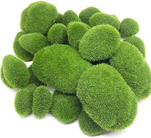 Popular brand in the world BB-SS 30PCS 3 Size Artificial Green Moss Long-awaited Decorative Rocks