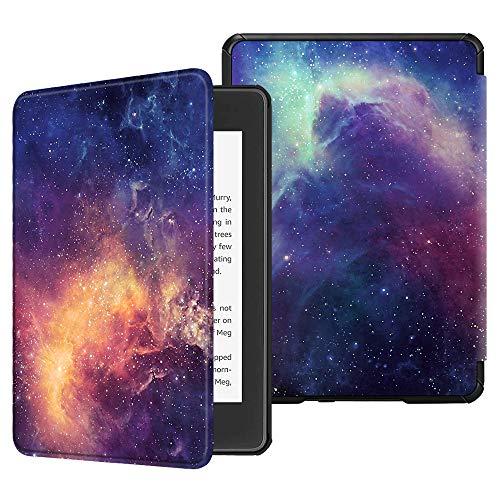 FINTIE Étui pour Kindle Paperwhite (10ème génération - modèle 2018) - Coque Housse Flip Fin et léger, Fermeture magnétique avec Mise en Veille Automatique, Galaxy
