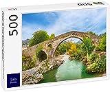 Lais Puzzle El Puente Romano jorobado sobre el río Sella en Cangas de Onis, Asturias, España 500 Piezas
