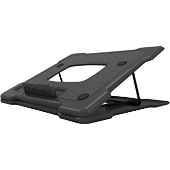 Portronics My Buddy Hexa III, a Portable Foldable Laptop Stand, Air Ventilated, 12 Angle Adjustment, for 12 to 18 Inch Laptops (Black)