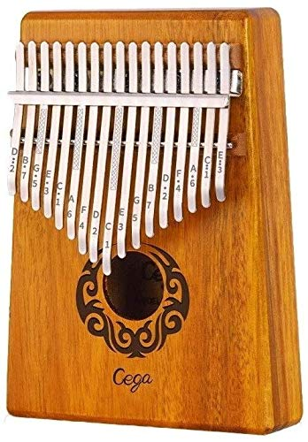 LBSX Kalimba Thumb Piano Mbira Portable -17 Keys Wood Finger Piano Study Instruction and Waterproof EVA Protective Case Best Gift for Kids Adults (Color : Wood Color)