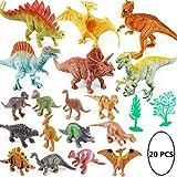 20 Pcs Plastic Dinosaur Toy Set