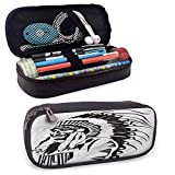 Big Capacity Pen Marker Holder Storage Tribal Pencil Case, Mayan and Aztec Icons for Pen, Pencil, Samsung, Huawei, Pen Accessories, USB Cable, Earphone, Fountain Pen 8'x3.5'x1.5'