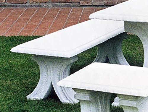 pompidu-living Steinbank Vesuvio - Steinbank in Antik Optik für den Garten - Wetterfeste Sitzbank aus Steinguss - Steinmöbel für Outdoor schwarz H 45cm
