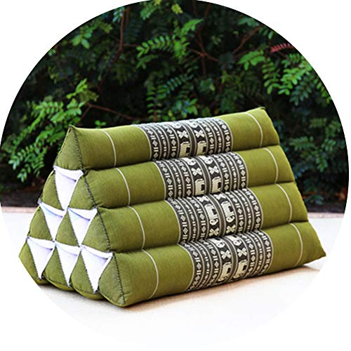 LIQICAI Bed Backrest Cushion Rest Pillows For Watching TV And Reading Bed Wedge Pillow Kapok Filling Foldable Triangle Thai Cushion, Headrest, 8 Colors (Color : D, Size : 50x40x40cm)