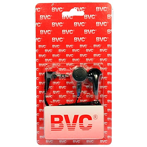 BVC 35005 - Auriculares Estéreo Jack 3.5, Cable 1m, 32Oh - Pack 50 uds