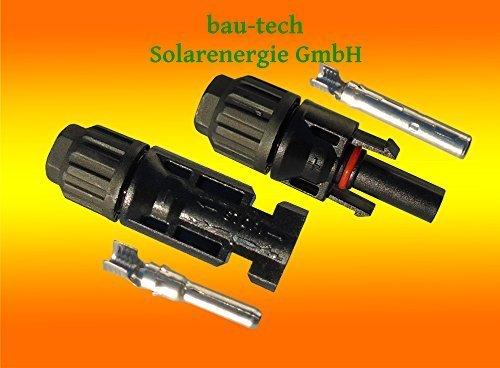 3 Paar MC4 Stecker + Buchse Original Multi Contact 4-6mm² für Solar PV Kabel von bau-tech Solarenergie