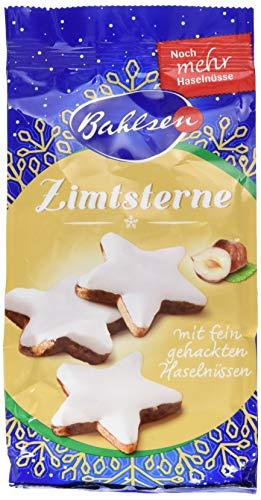 Bahlsen Zimtsterne – leckere Weihnachtskekse mit Zimt und Haselnüssen – feines Gebäck ideal zu Kaffee und Tee, 12er Pack (12 x 100 g)