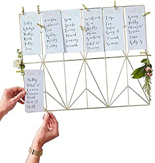 acrylic wedding table plan