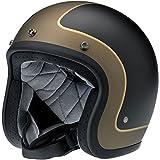 Biltwell Bonanza Le Tracker Helmet (Flat Black/Grey/Gold, Small)
