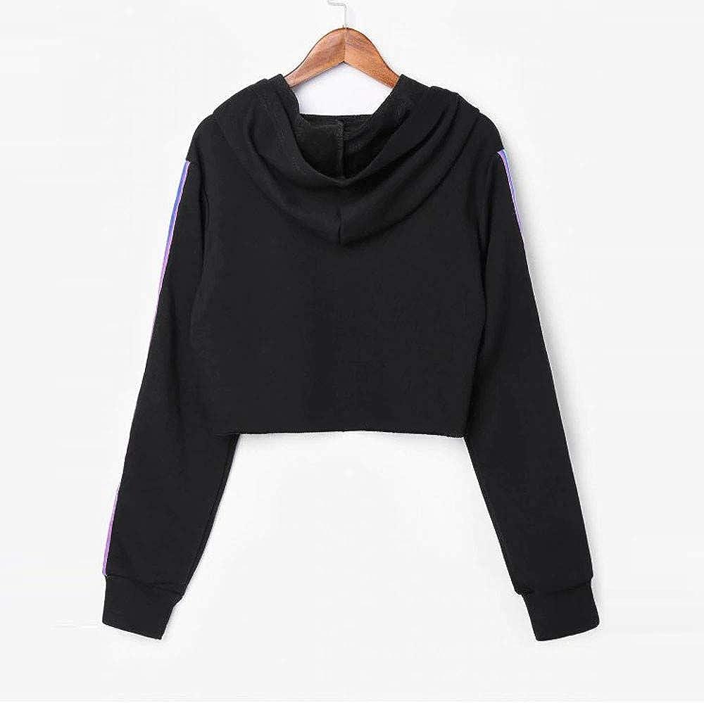 Womens Long Sleeve Hoodies Pullover Jumper Tops Casual Loose Sports Sweatshirt