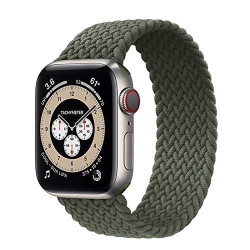 CGGA Correa deportiva compatible con la correa de reloj de manzana de un solo bucle tejido 38 mm 40 mm 42mm 44mm, pulsera tejida elástica suave, adecuada para la serie IWATCH 1/2/3/4/5/6 / SE Reloj Co