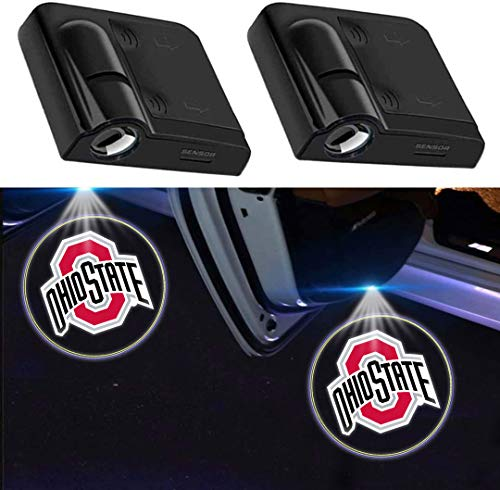 2pcs fit Ohio State Buckeyes Car Door Light Projector The...
