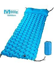 Eastshining エアーマット キャンプマット アウトドアマット エアパッド 枕付き 紐付き 超軽量 防水 風飛び防止 エア漏れなし 破れにくい キャンプ 車中泊 寝袋