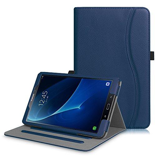 Fintie Hülle für Samsung Galaxy Tab A 10,1 Zoll T580N / T585N 2016 Tablet - Multi-Winkel Betrachtung Schutzhülle Cover Hülle mit Dokumentschlitze, Standfunktion, Auto Wake/Sleep Funktion, Marineblau