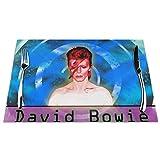 David Bowie Tovagliette Tovagliette in PVC resistente al calore, lavabili in PVC, set di 4