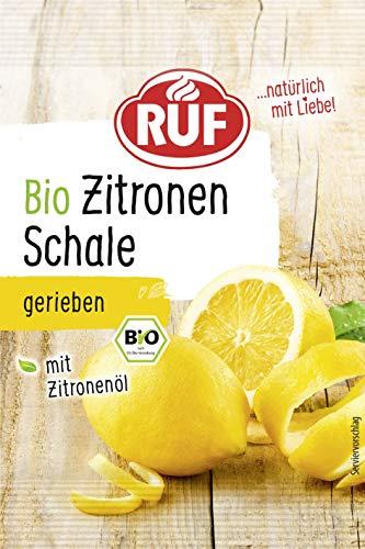 RUF Bio Zitronenschale Zitronenabrieb Gerieben, gefriergetrocknet Zitronenöl, 22er Pack (22 x 5 g)  12045